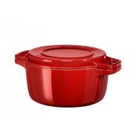 Кастрюля чугунная KitchenAid, 3.77л, с крышкой, красная (KCPI40CRER)
