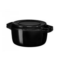 Кастрюля чугунная KitchenAid, 3.77л, с крышкой, черная (KCPI40CROB)