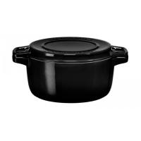 Кастрюля чугунная KitchenAid, 5.65л, с крышкой, черная (KCPI60CROB)