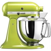 Миксер KitchenAid планетарный,4.83л, 4 насадки, 2 чаши, зеленое яблоко (5KSM175PSEGA)
