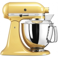 Миксер KitchenAid планетарный,4.83л, 4 насадки, 2 чаши, желтый (5KSM175PSEMY)