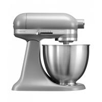 Миксер KitchenAid планетарный MINI, 3,3л, 3 насадки, 1 чаша, матовый серый (5KSM3311XEFG)