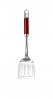 Лопатка KITCHENAID нержавеющая  сталь, с прорезями, красная ручка (KGEM1102ER)