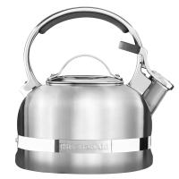 Чайник KitchenAid 1.89л, наплитный, свисток, стальной (KTST20SBST)