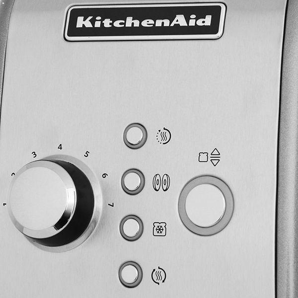 Тостер KitchenAid на 2 хлебца, стальной (5KMT221ECU)