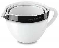 Набор керамических чаш KitchenAid круглых д/запекания, смешивания (3шт.), 1.4/1.9/2.8л, отделка чёрная (KBLR03NBOB)