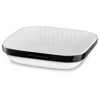 Форма KitchenAid д/пирога керамическая, 260х260мм, покрытие – фарфоровая эмаль, цвет –  черный (KBLR09AGOB)