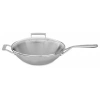 Сковорода-ВОК, KitchenAid стеклянная крышка 33cм, 3 Ply SS (KC2T13WKST)