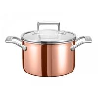 Кастрюля KitchenAid для соуса, 2.84л с крышкой, глянц.медь (KC2P30EHCP)