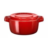 Кастрюля чугунная KitchenAid, 5.65л, с крышкой, красная (KCPI60CRER)