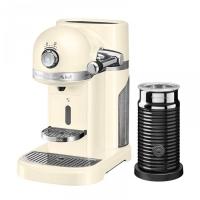 Кофемашина капсульная KitchenAid Artisan Nespresso и Aeroccino, объём бака 1.4л, кремовая (5KES0504EAC)
