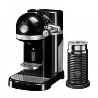Кофемашина капсульнаяKitchenAid Artisan Nespresso и Aeroccino, объём бака 1.4л, черная (5KES0504EOB)