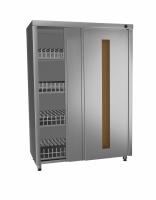 Шкаф закрытый для дезинфекции столовой посуды, 1000х500х1700мм (ШЗК-100/5УФ)